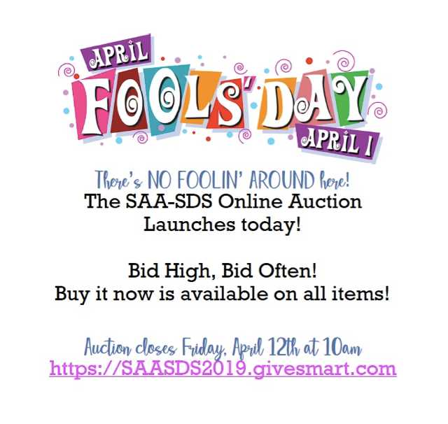 Start Your Bidding! Online Auction is Open