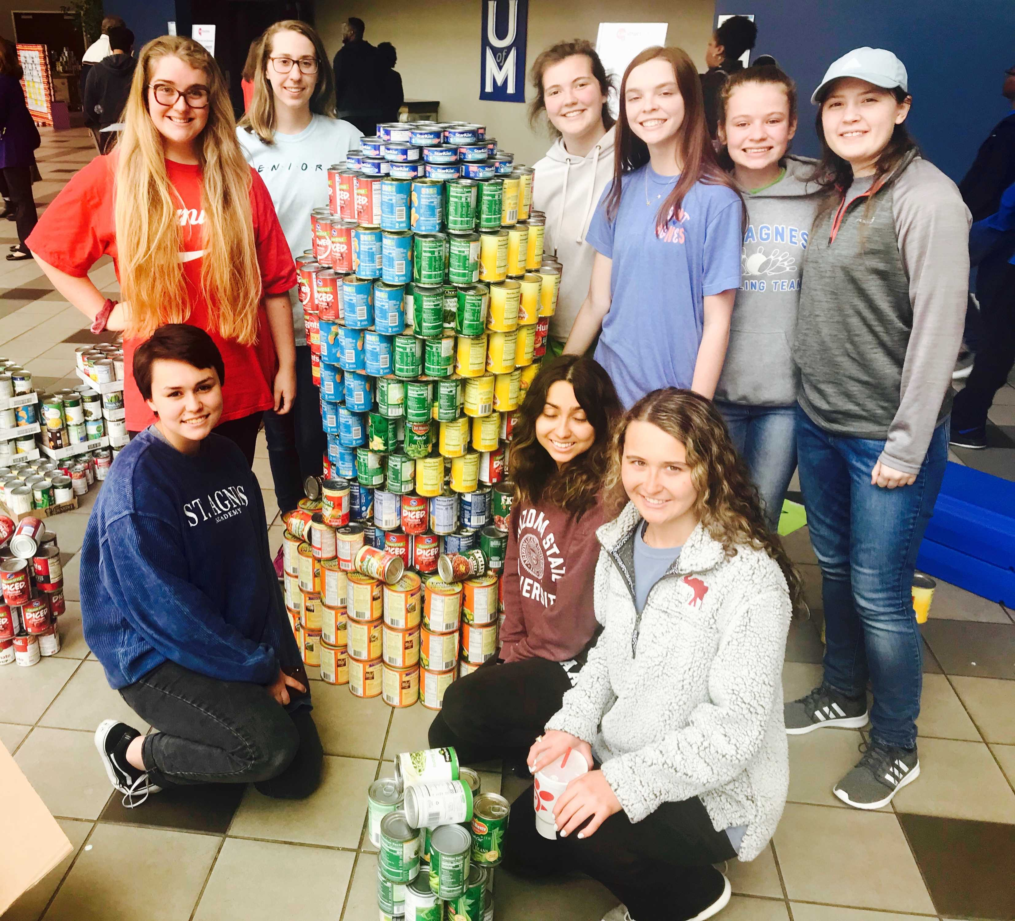 St. Agnes  Canstruction Team Wins Top Engineering Honors