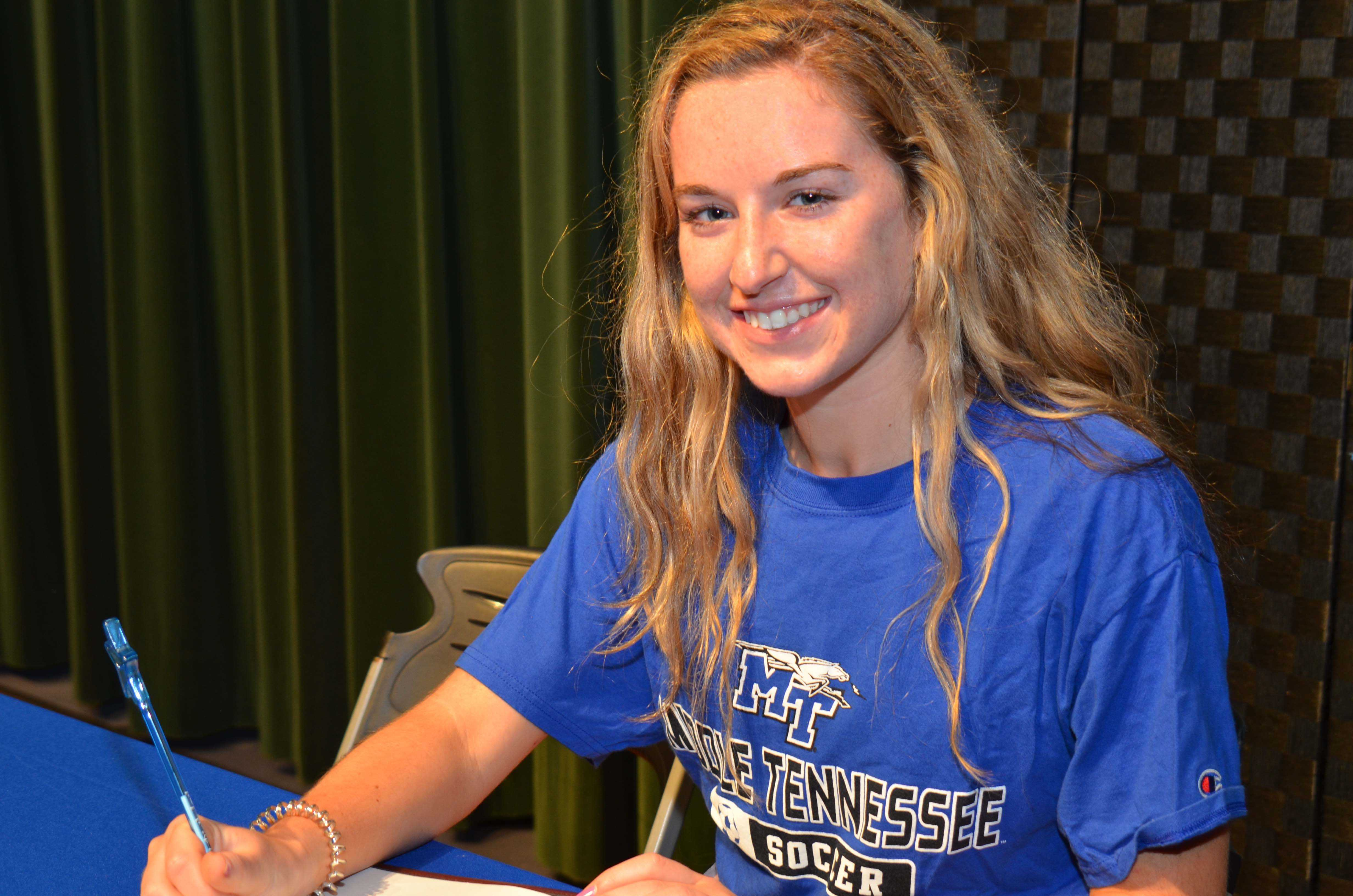 SAA Soccer Player Signs Letter of Intent to MTSU