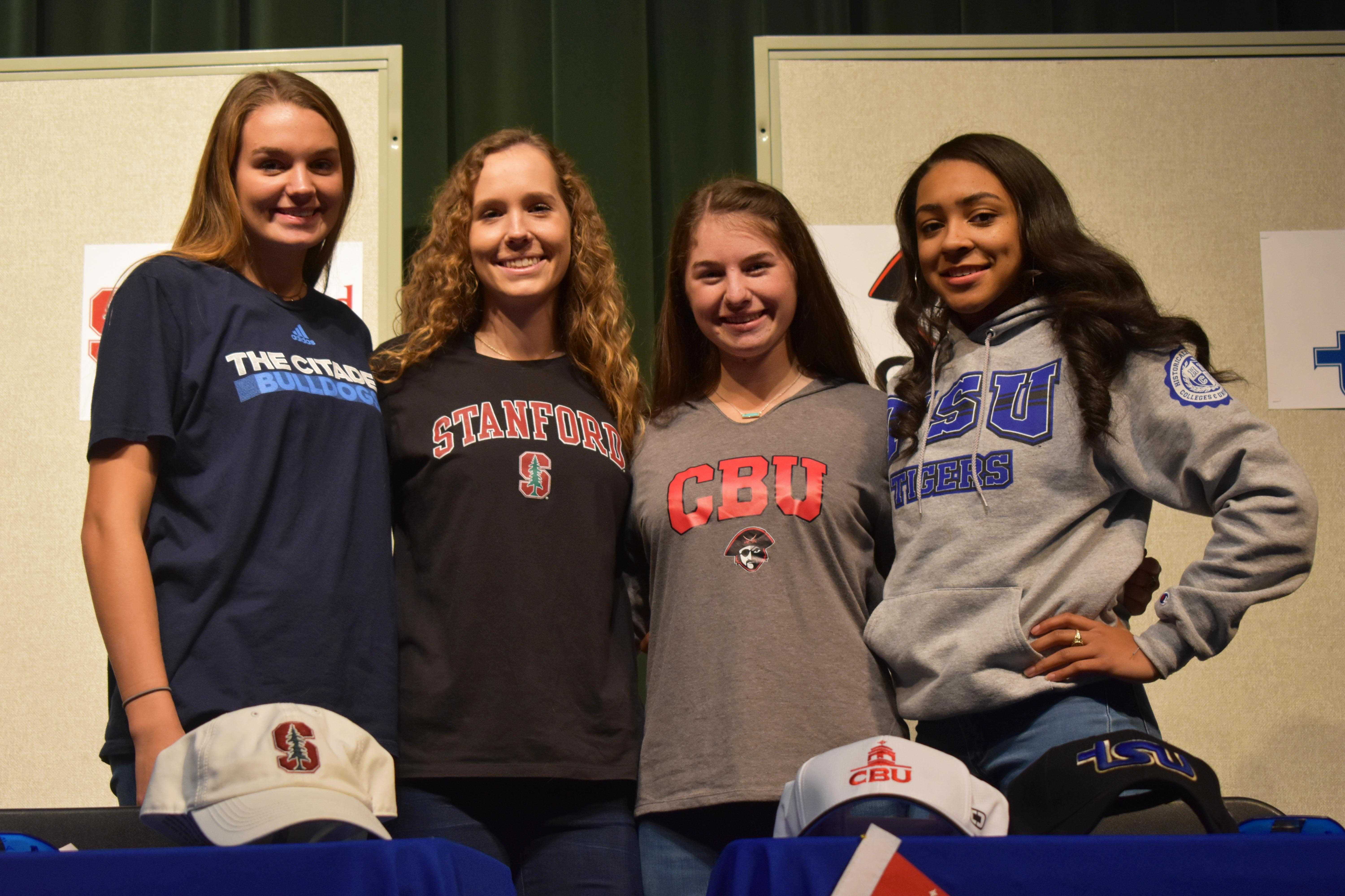Four St. Agnes Seniors Sign National Letters of Intent
